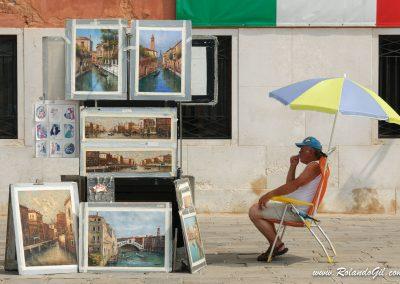 Pintor callejero en Italia
